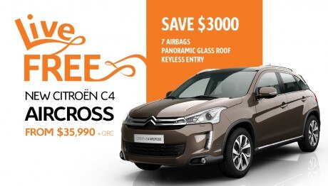 Save $3000 on the new Citroen C4 Aircross