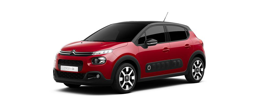 Citroen C3 red metallic