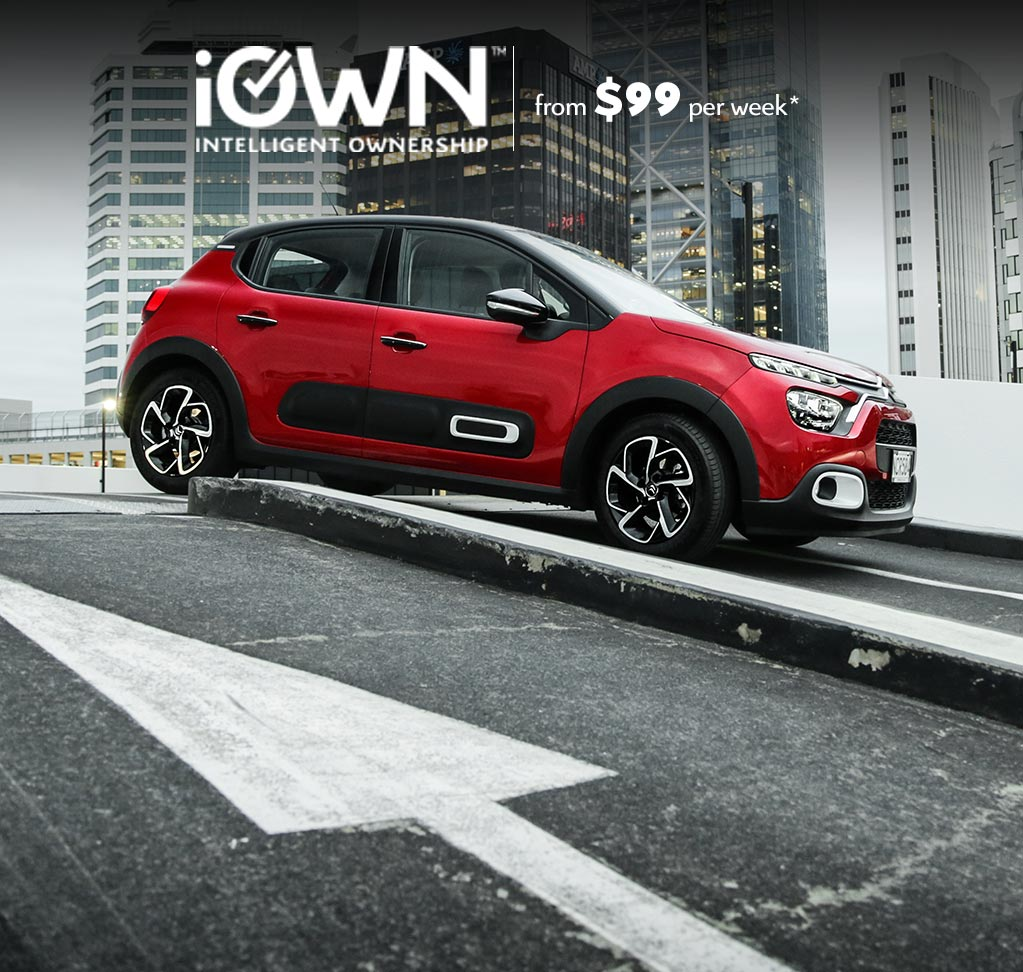Citroën C3 With iOWN Intelligent Ownership   From $99 per week* and Guaranteed Future Value