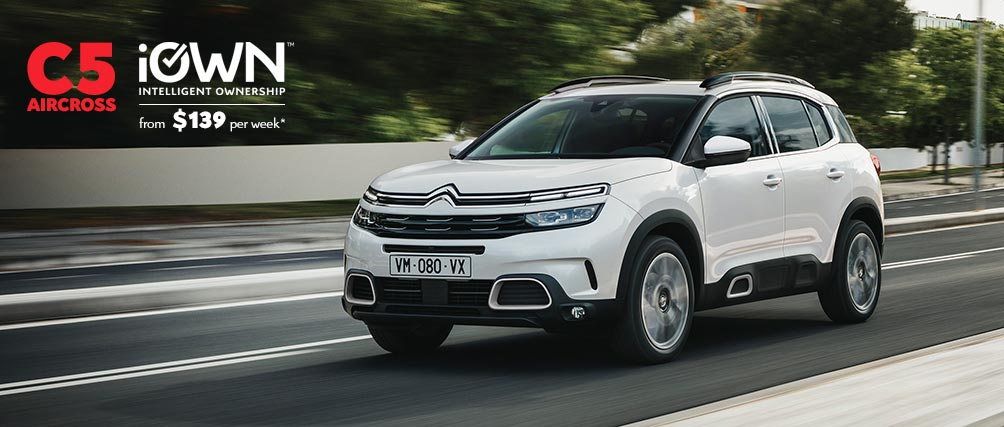 Citroën C5 Aircross SUV With iOWN Intelligent Ownership | From $139 per week* and Guaranteed Future Value