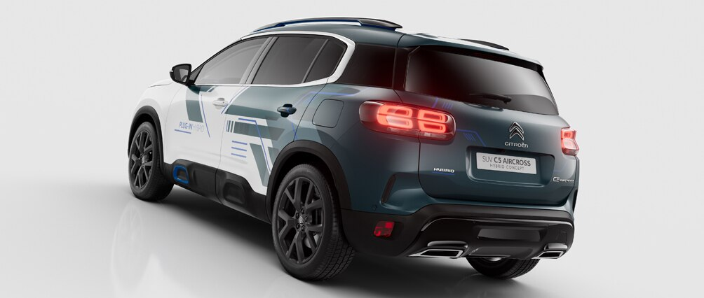 citro n unveils new c5 aircross hybrid concept suv. Black Bedroom Furniture Sets. Home Design Ideas