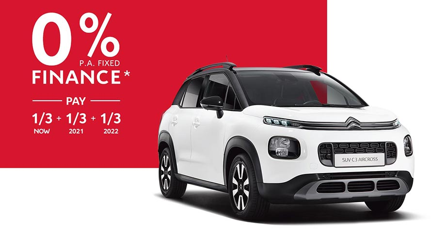 Citroën C3 Aircross SUV 0% p.a. Fixed Finance Offer*