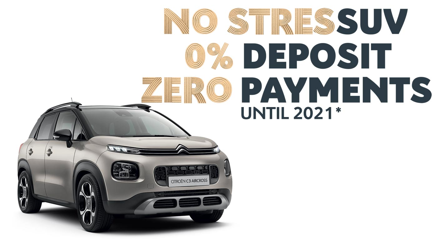 Citroën C3 Aircross SUV No StresSUV Offer   Buy Now at your Citroën Dealer