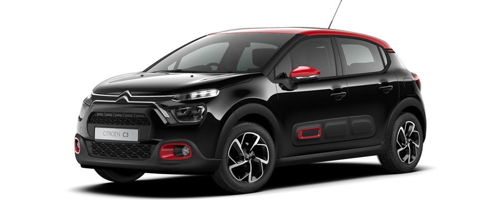 Bew Citroën C3 Hatch Colours | Nera Black Metallic Paint