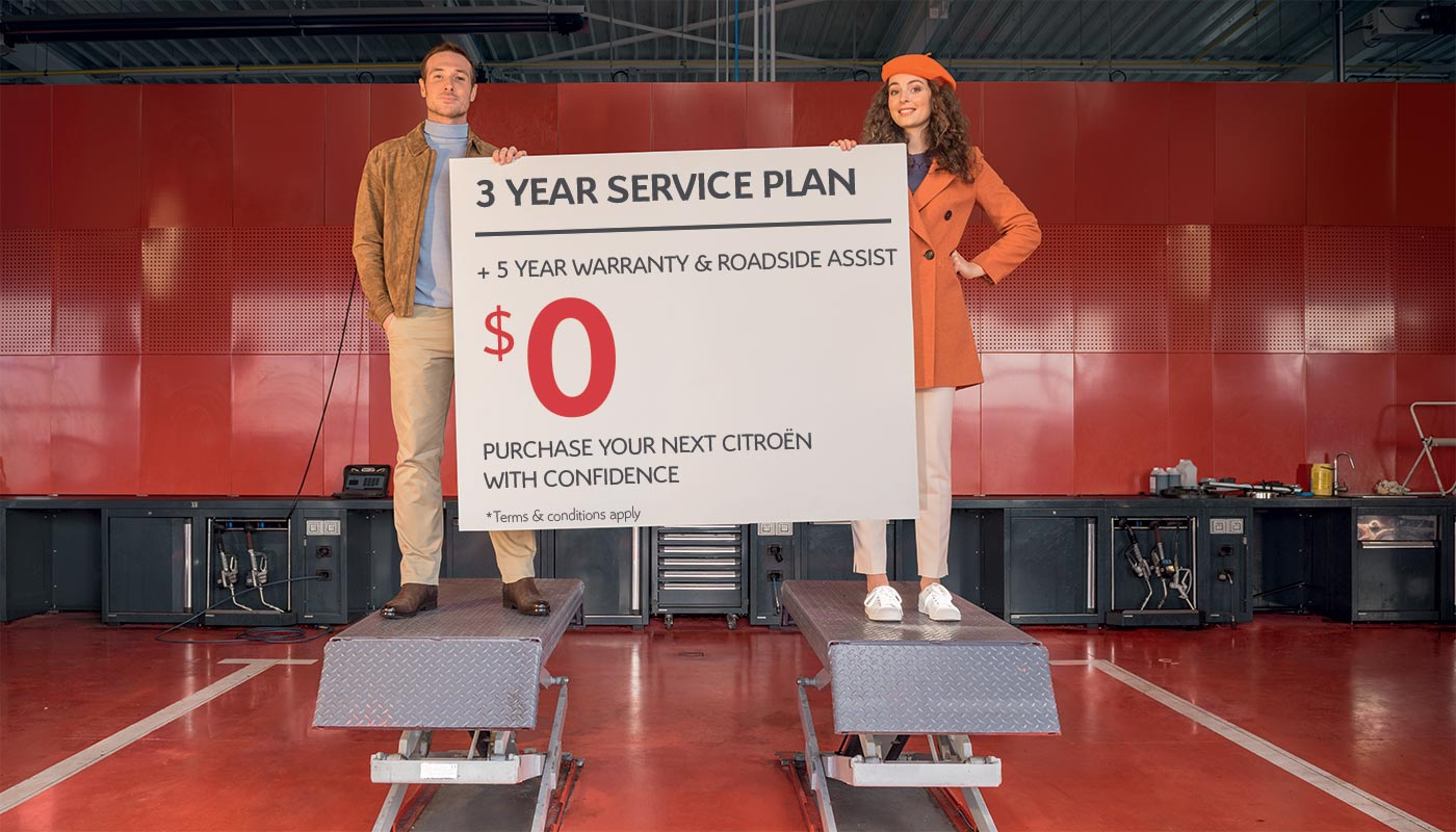 Complimentary 3 Year Service Plan Across the Citroën Range